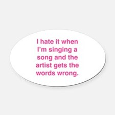 Singing a Song Oval Car Magnet