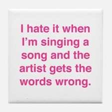 Singing a Song Tile Coaster