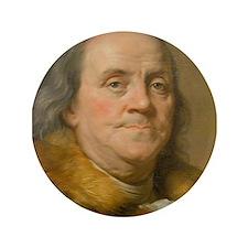 "Founding Father: Benjamin Franklin 3.5"" Button"