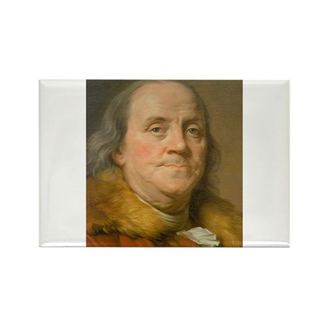 Founding Father: Benjamin Franklin Rectangle Magne