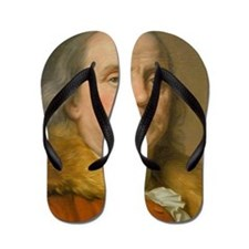 Founding Father: Benjamin Franklin Flip Flops