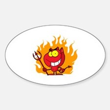 Devil Sticker (Oval)