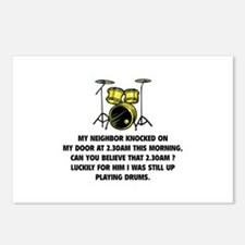 Still Up Playing Drums Postcards (Package of 8)
