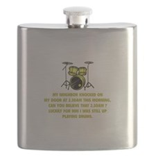 Still Up Playing Drums Flask