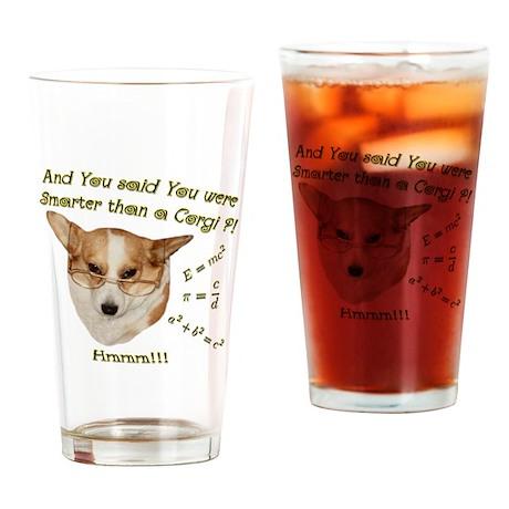 Smarter than a Corgi? Drinking Glass