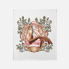 Mermaid's Pearl Throw Blanket