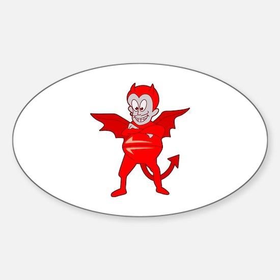 Devil Sticker (Oval)