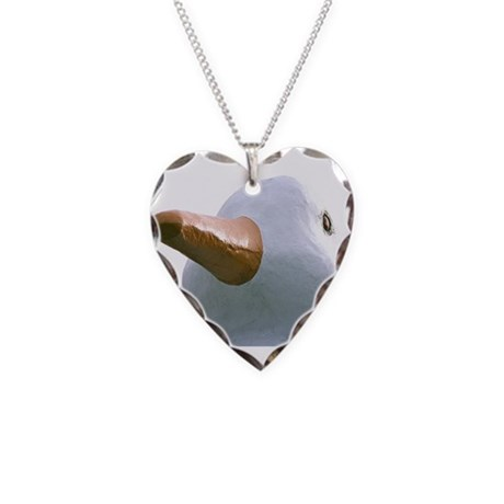 The Hamptons: Big Duck Necklace Heart Charm