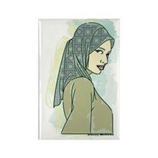 Veiled Lady 2 Rectangle Magnet