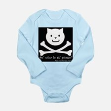 Cat and Bones Long Sleeve Infant Bodysuit