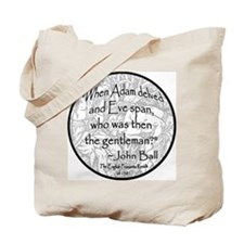 English Peasant Protest Button Tote Bag