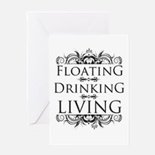 Floating Drinking Living Greeting Card
