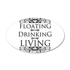 Floating Drinking Living Wall Decal