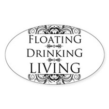 Floating Drinking Living Decal