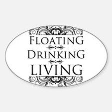 Floating Drinking Living Sticker (Oval)