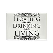 Floating Drinking Living Rectangle Magnet