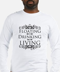 Floating Drinking Living Long Sleeve T-Shirt