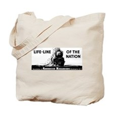 Life-Line Of the Nation 1940 Tote Bag