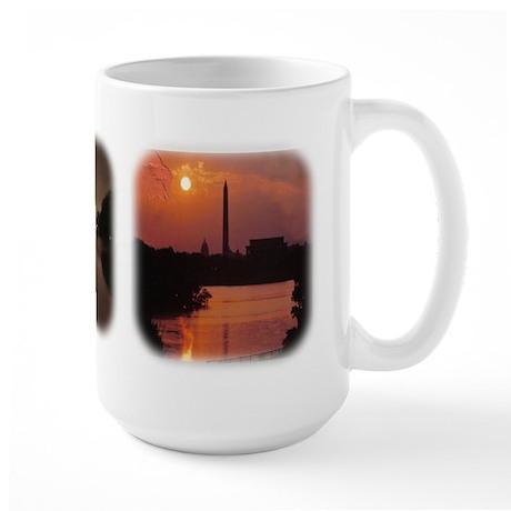 Washington Monument at night Large Mug