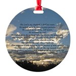Beautiful Psalm 23 Round Ornament