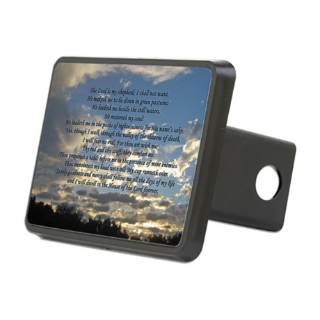 Beautiful Psalm 23 Rectangular Hitch Cover
