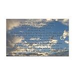 Beautiful Psalm 23 Rectangle Car Magnet
