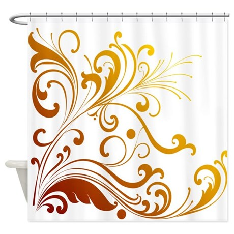 Floral Swirl Shower Curtain