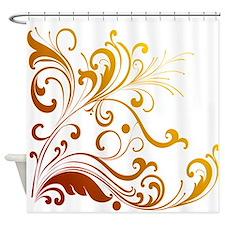 Floral Swirl Shower Curtain