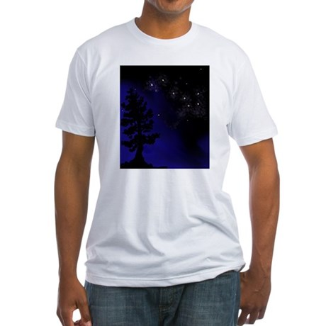 Step Up To Seven Stars Tai Chi T-Shirt Fitted T-Sh