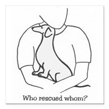 "Rescue Square Car Magnet 3"" x 3"""