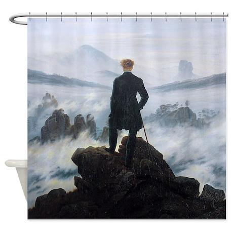 Caspar David Friedrich Wanderer Shower Curtain