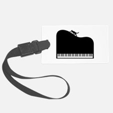 Sexy Piano and Cat Luggage Tag