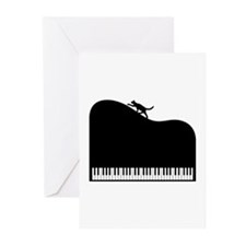 Sexy Piano and Cat Greeting Cards (Pk of 20)