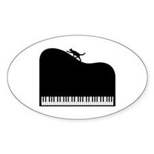 Sexy Piano and Cat Decal