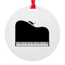 Sexy Piano and Cat Ornament