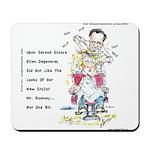 Romney The Bully Cuts Ellens Hair Mousepad