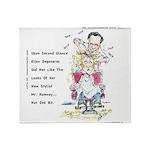 Romney The Bully Cuts Ellens Hair Throw Blanket