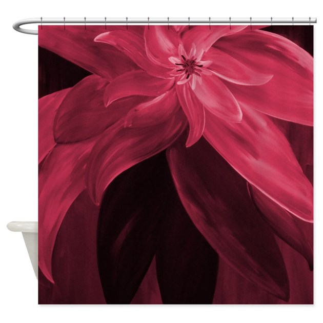 Elegant Maroon Shower Curtain By Markmoore