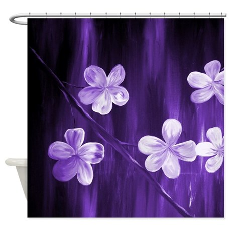 Abstract Floral Shower Curtain