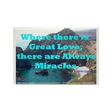 Where There Is Great Love Rectangle Magnet (10 pac