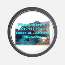 Where There Is Great Love Wall Clock