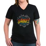 BAMF Women's V-Neck Dark T-Shirt