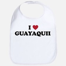 I Love Guayaquil Bib