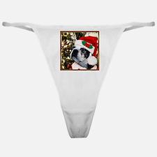 Christmas Boston Terrier Classic Thong