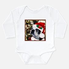 Christmas Boston Terrier Long Sleeve Infant Bodysu