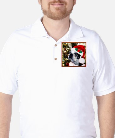 Christmas Boston Terrier Golf Shirt