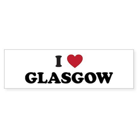 I Love Glasgow Sticker (Bumper)