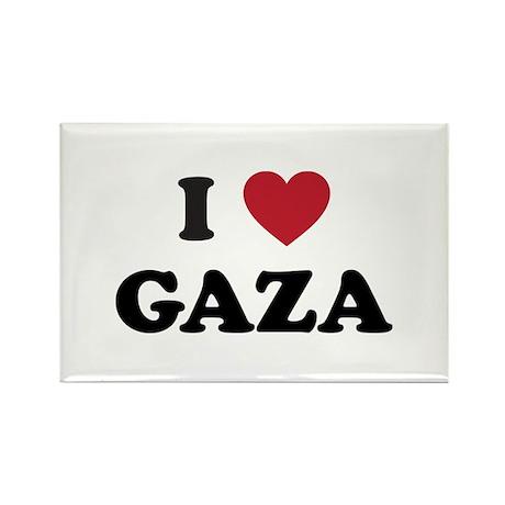 I Love Gaza Rectangle Magnet