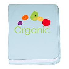 """Organic Fruits 2"" baby blanket"