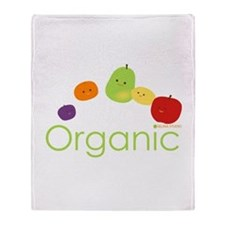 """Organic Fruits 2"" Throw Blanket"